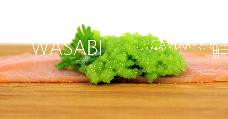 a wasabi salomon sushi on kitsimono japanese gastro dish (2)