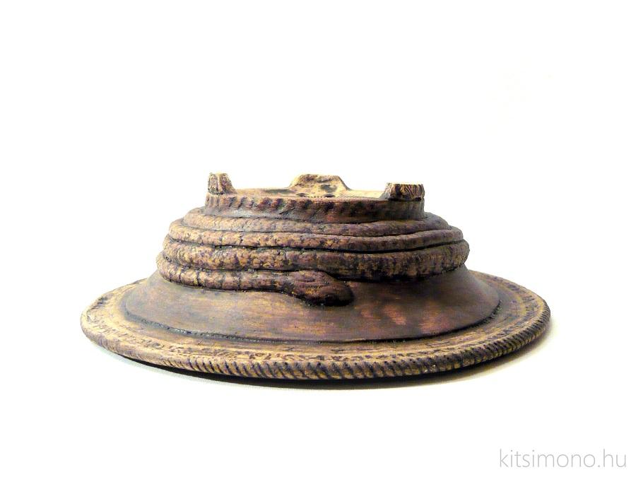 kitsimono, round, kerek, bonsai, tal, pot, bowl, kigyo, snake, plasztikus