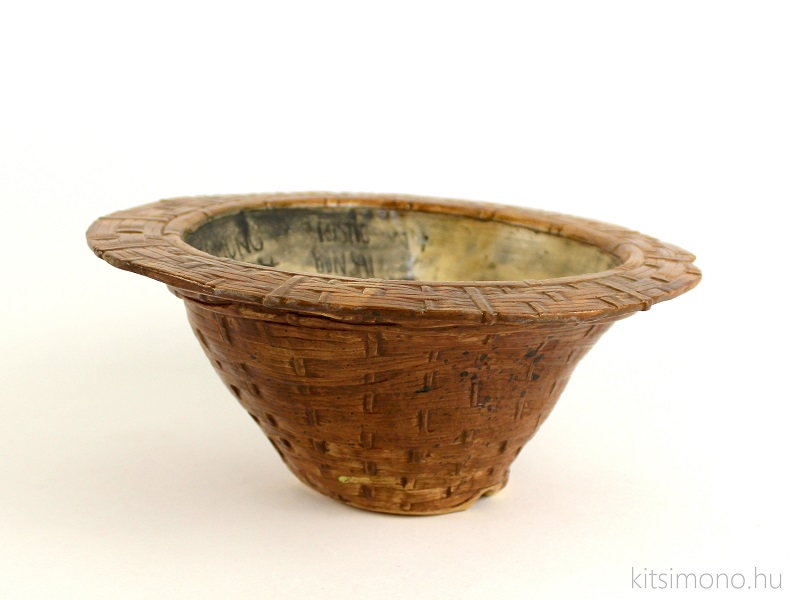 glazed kusamono and bonsai pot mazas bonsaital kitsimono (1)