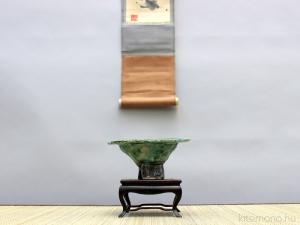 shohin bonsai tál bonsai pot repesztett cracked glaze mázzal