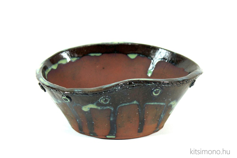 kitsimono glazed shohin bonsai dish for kusamono and grass bonsai (4)