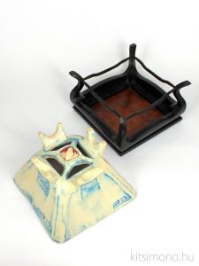 irregular, kaszkad, han kengai, shohin, bonsai pot, kitsimono, ceramics
