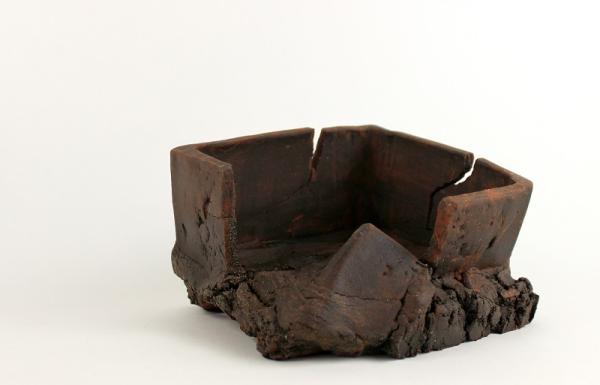 irregular modern bonsai and kusamono pot kitsimono