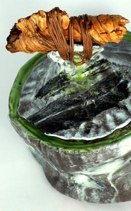 mizusashi japán kerámia kitsimono műhely
