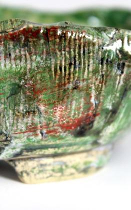 mázas bonsai kusamono tál kitsimono