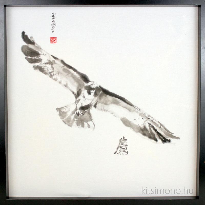 kitsimono ink painting sumie painting bird painting (2)