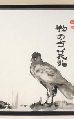 kitsimono, kitsimono art studio, japanese ink painting, sumi e, sumie, tus festmény, tusfestmény, mono no aware art