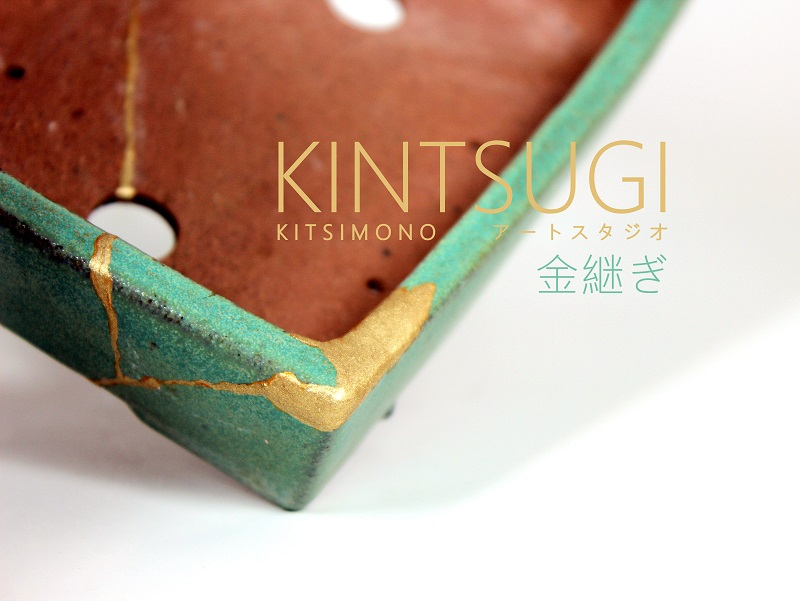 kintsugi bonsai pot restoration replacement with golden (12)