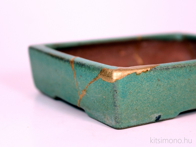 kintsugi bonsai pot restoration replacement with golden (8)
